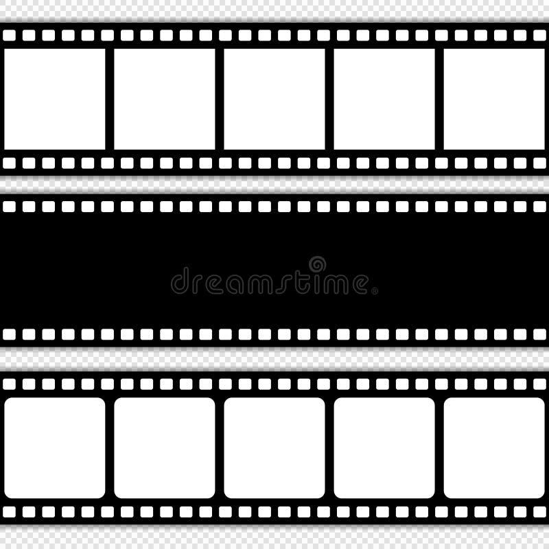 Plantilla de la tira de la película ilustración del vector