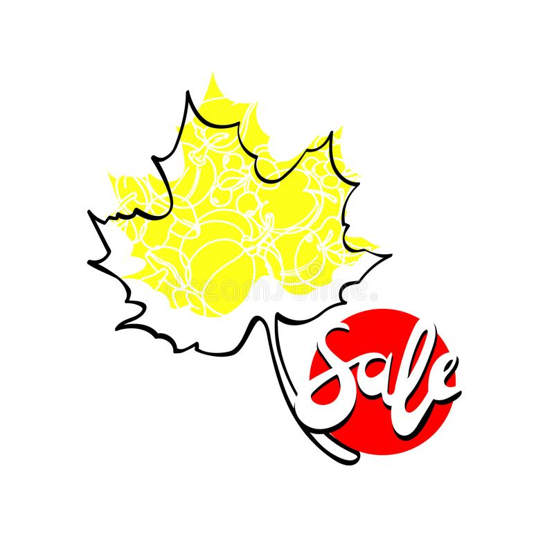 Plantilla de la venta del otoño del vector Icono gráfico libre illustration