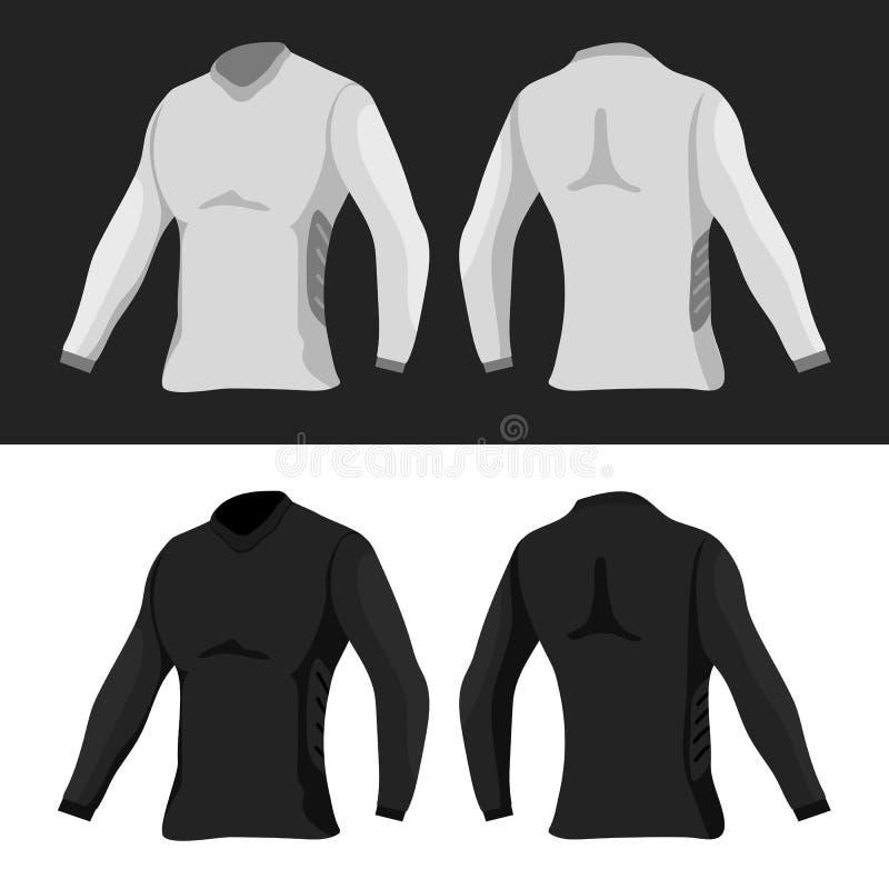 Plantilla de las camisetas ilustración del vector