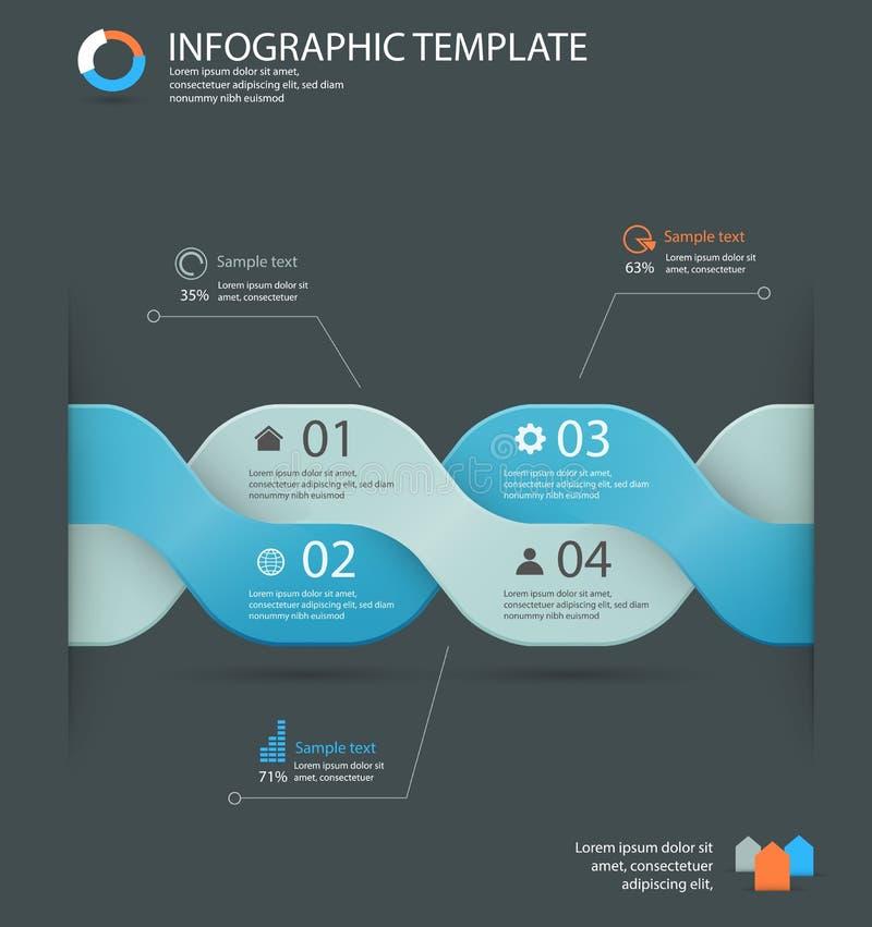 Plantilla de las opciones de Infographic ilustración del vector