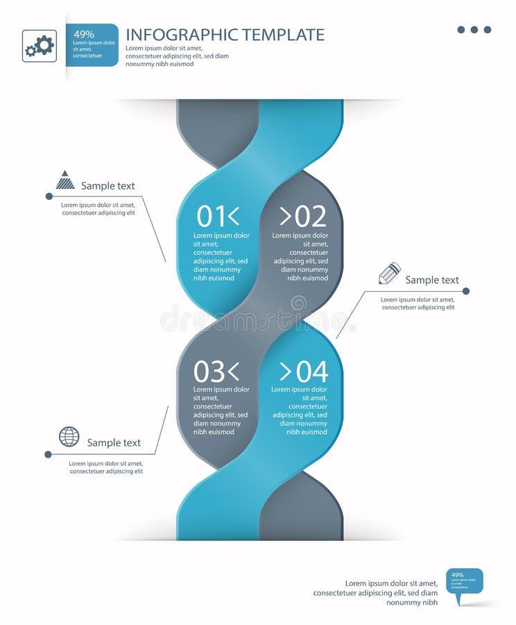 Plantilla de las opciones de Infographic stock de ilustración
