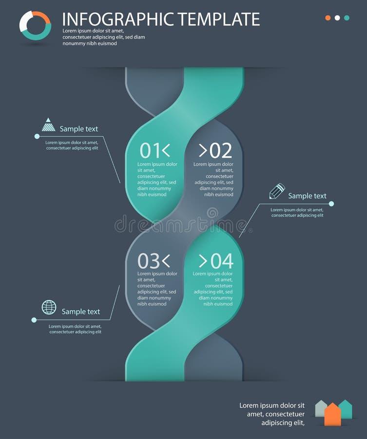 Plantilla de las opciones de Infographic libre illustration
