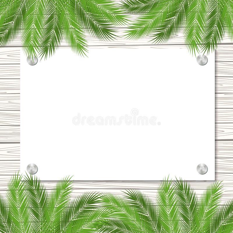 Plantilla de las palmas ilustración del vector