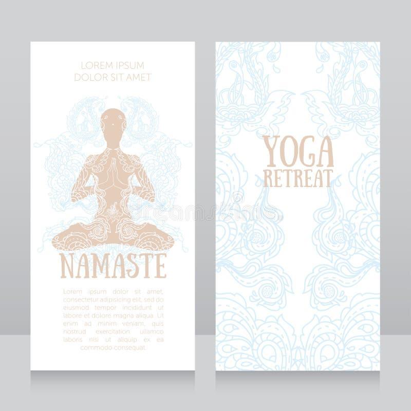 Plantilla De Las Tarjetas De Visita Para El Retratamiento De La Yoga ...