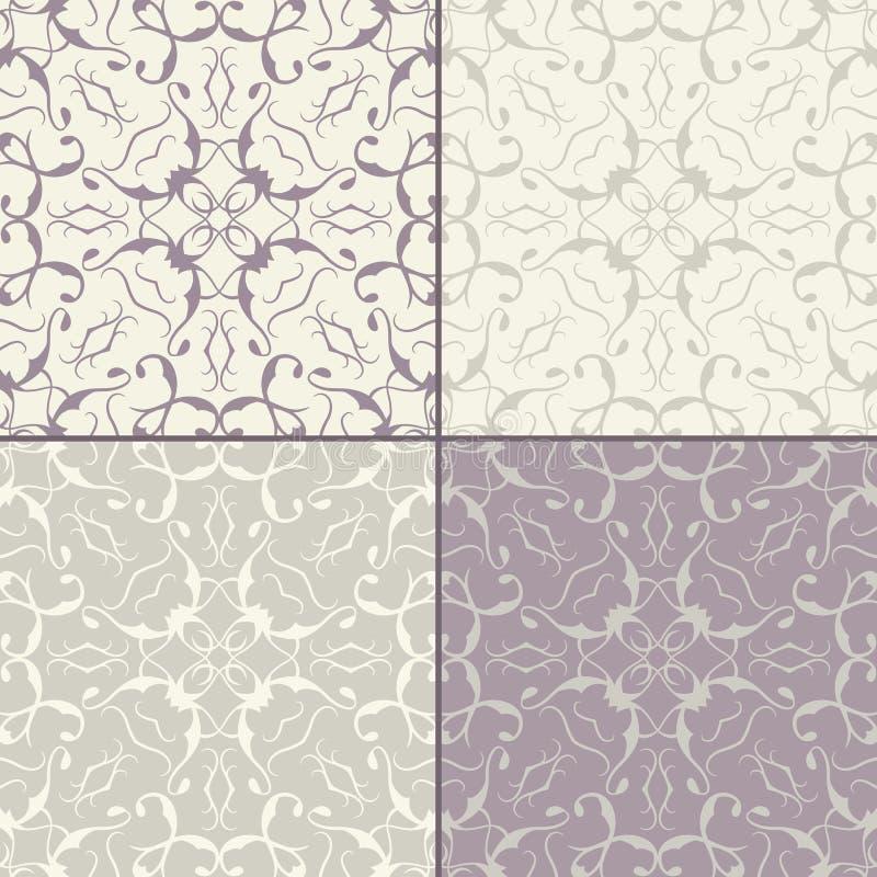 Plantilla de las texturas de la tela con diversos colores stock de ilustración