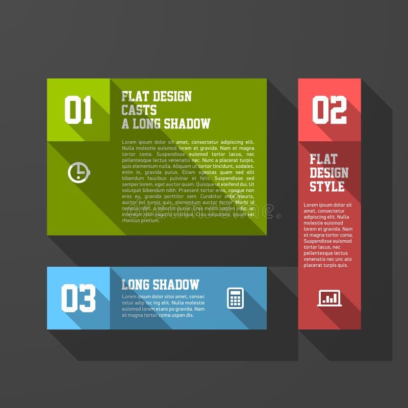 Plantilla de los elementos del diseño stock de ilustración