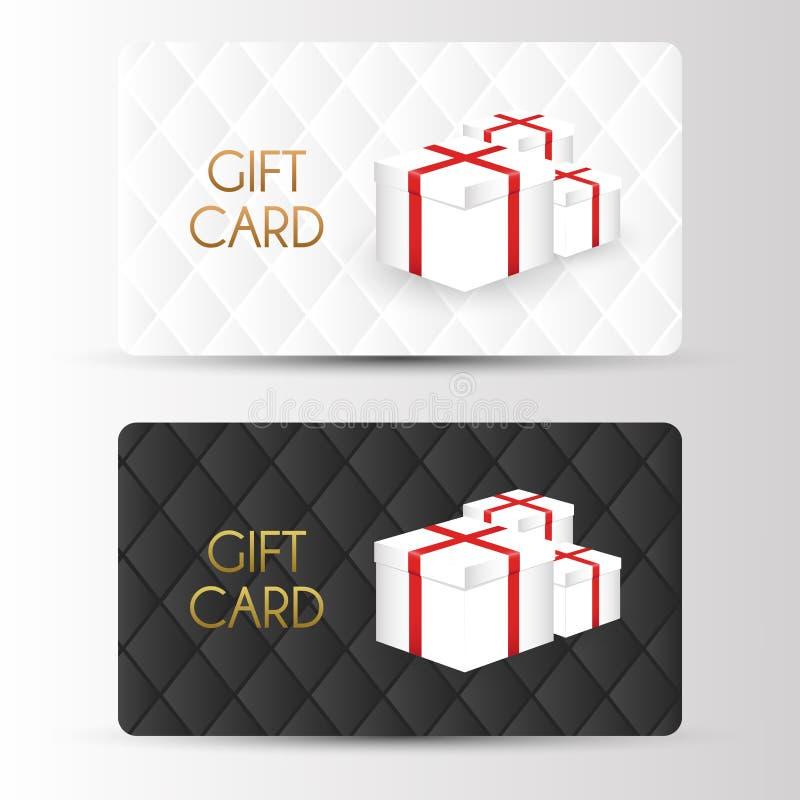 Plantilla de lujo de los cartes cadeaux Vector libre illustration