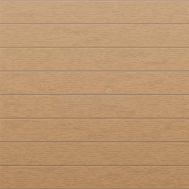 Plantilla de madera de la textura con las rayas horizontales, los paneles viejos rústicos, piso del vintage del grunge Fondo de m ilustración del vector