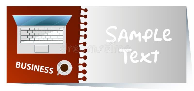 Plantilla de Namecard con el ordenador portátil del ordenador en fondo libre illustration