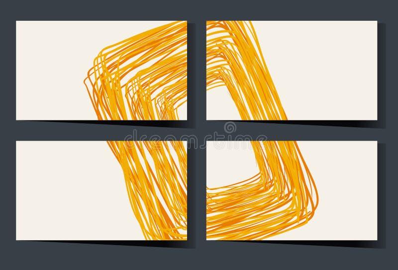 Plantilla de Namecard con garabatos amarillos libre illustration