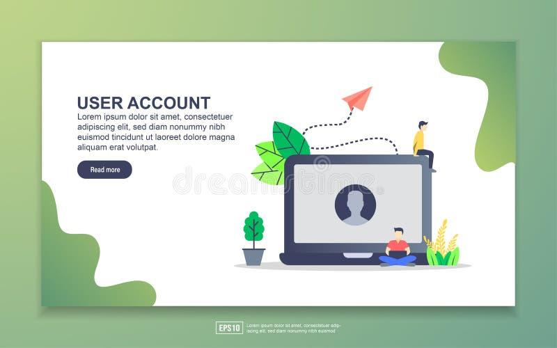 Plantilla de página de destino de la cuenta de usuario Concepto moderno de diseño plano del diseño de páginas web para sitios web libre illustration