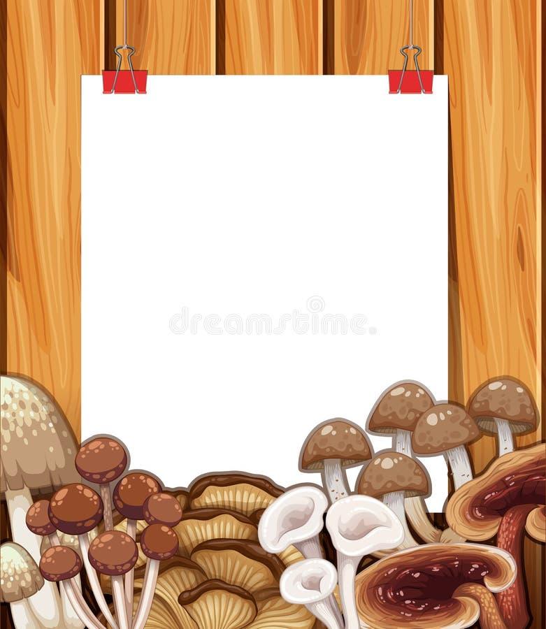 Plantilla de papel con las setas en fondo libre illustration