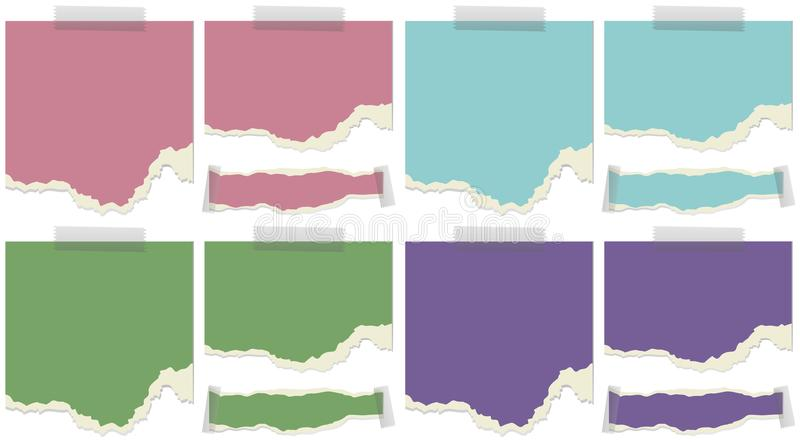 Plantilla de papel en cuatro colores libre illustration