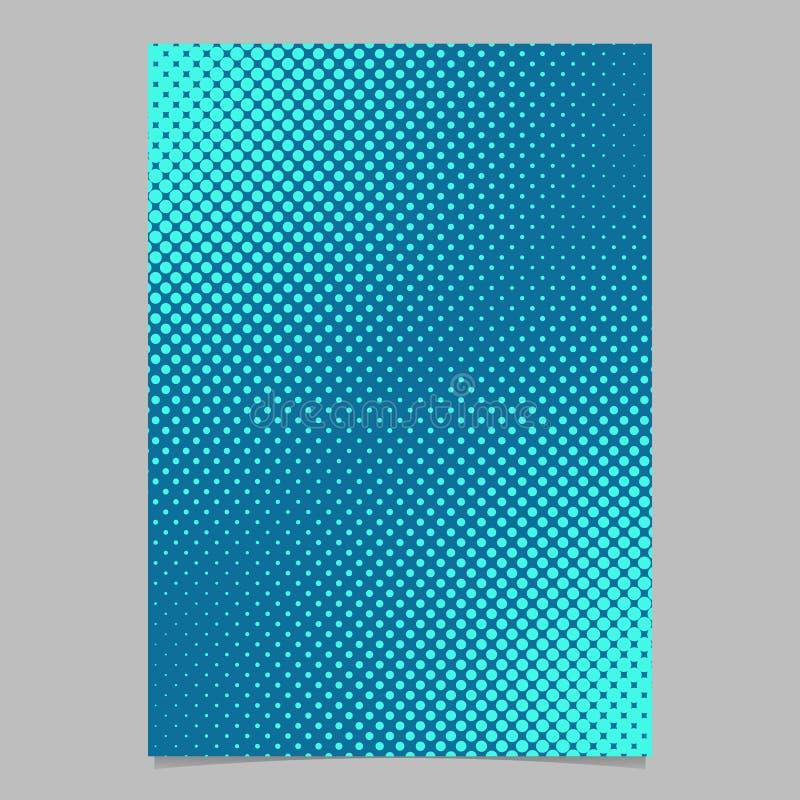 Plantilla de semitono azul clara de la página del modelo de punto - vector el gráfico del fondo del folleto ilustración del vector