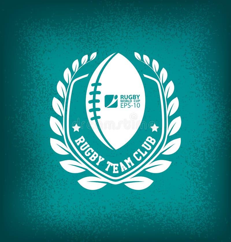 Plantilla de Team Club Logo Sport Design del rugbi ilustración del vector