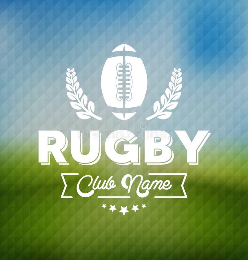 Plantilla de Team Club Logo Sport Design del rugbi stock de ilustración