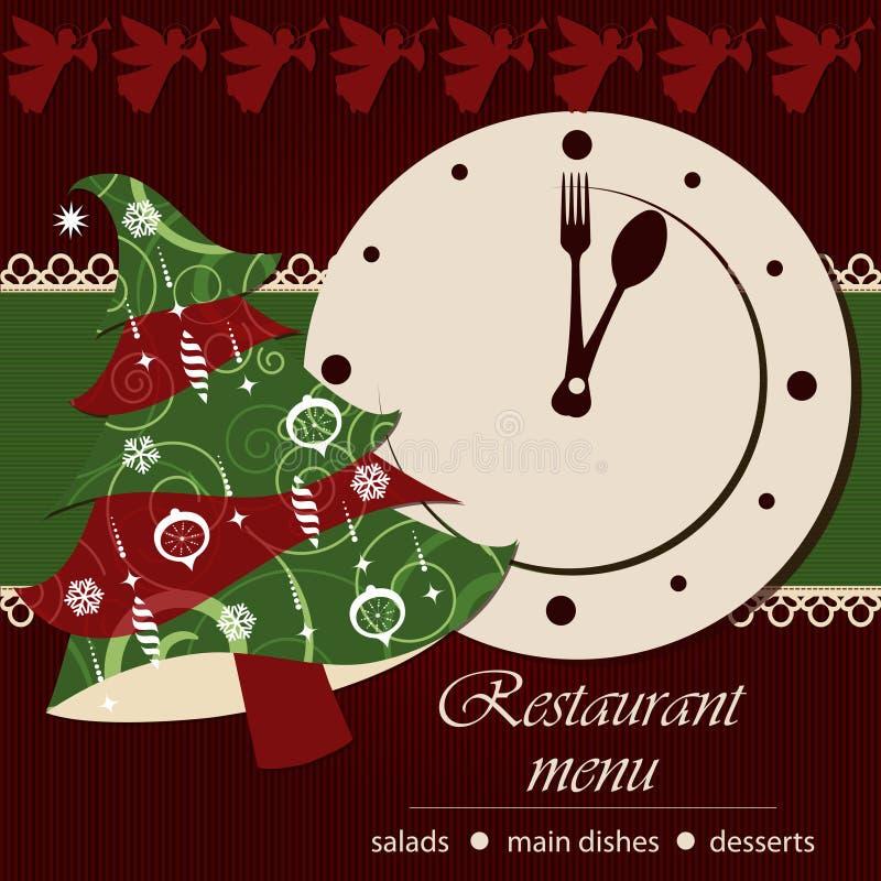 Plantilla De Un Menú De La Navidad Ilustración del Vector ...