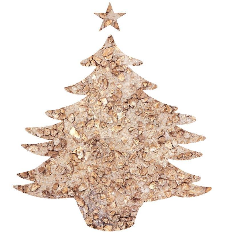 Plantilla del árbol de navidad imagenes de archivo