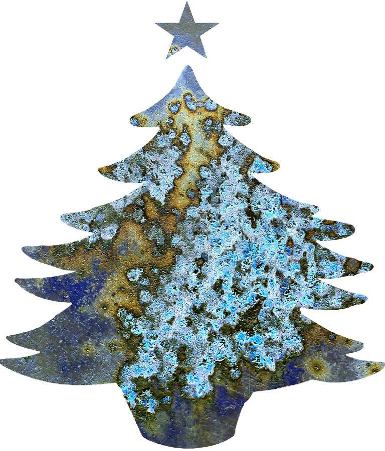Plantilla del árbol de navidad imagen de archivo
