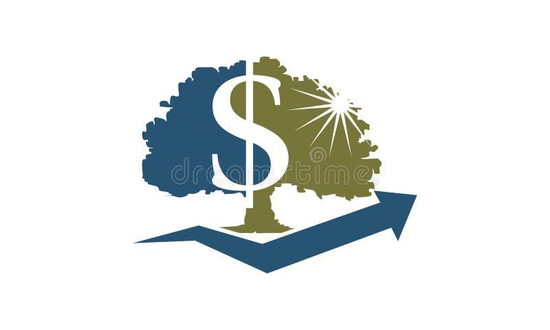Plantilla del árbol del dinero ilustración del vector