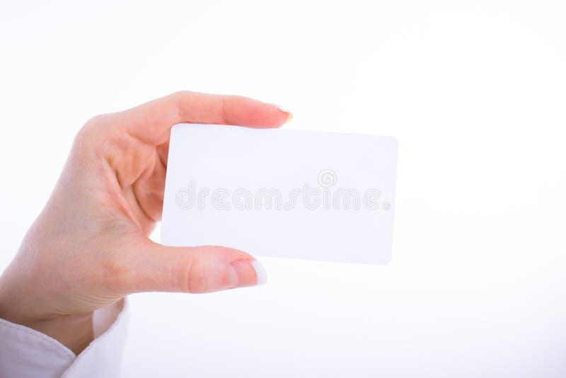 Plantilla del avance de la tarjeta de visita fotografía de archivo