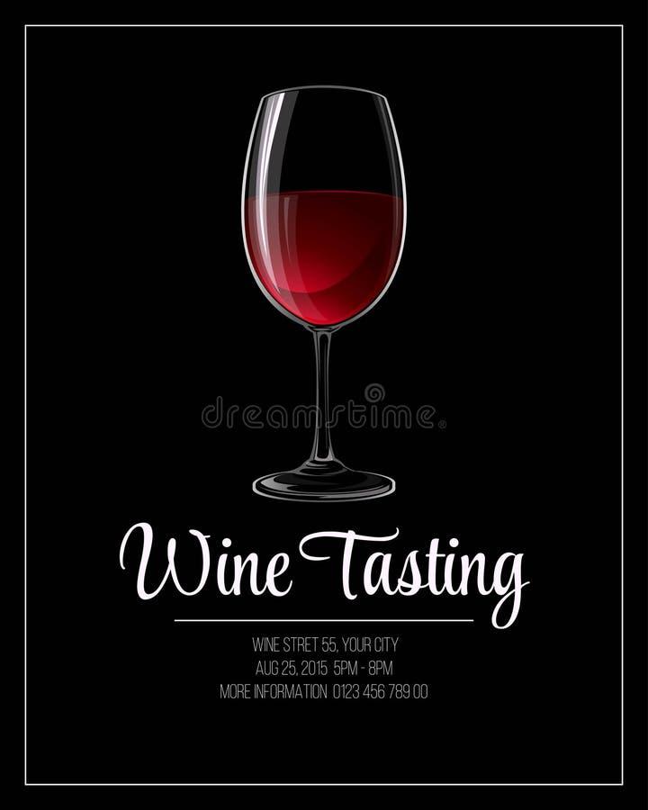 Plantilla del aviador de la degustación de vinos Ilustración del vector stock de ilustración