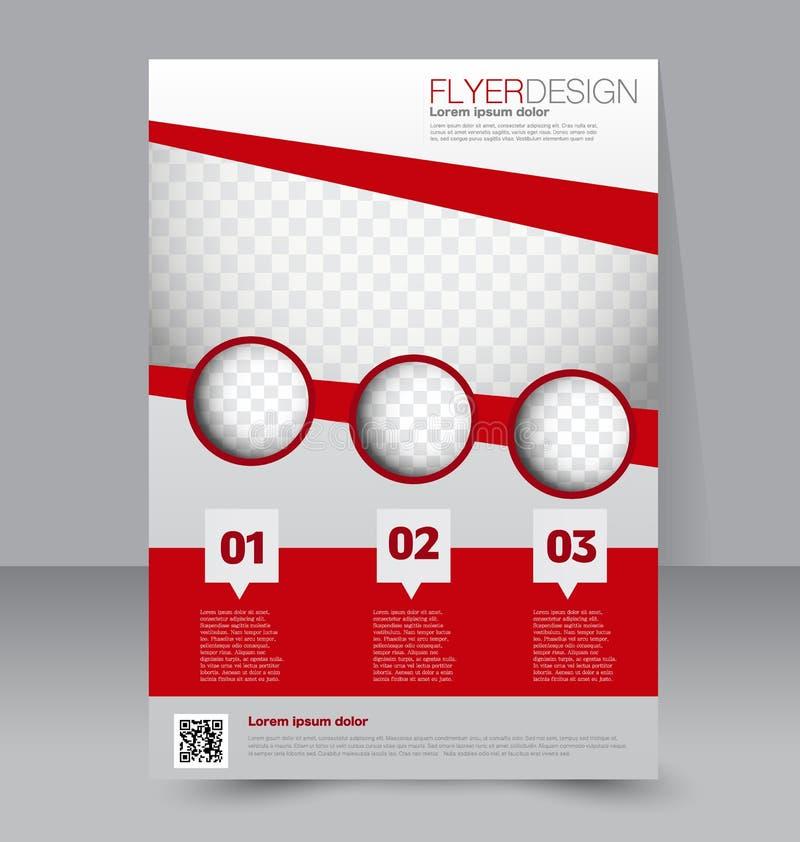 Plantilla del aviador Diseño del folleto Cubierta del negocio A4 libre illustration