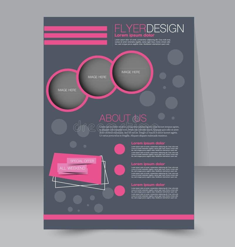 Plantilla del aviador Folleto del negocio Cartel Editable A4 libre illustration