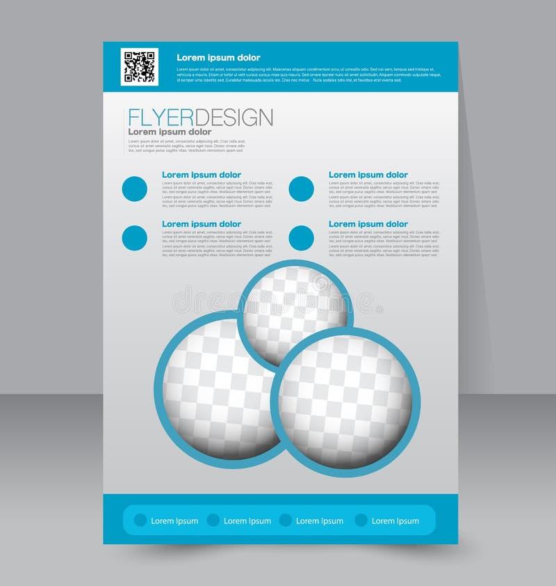 Plantilla del aviador Folleto del negocio Cartel Editable A4 stock de ilustración