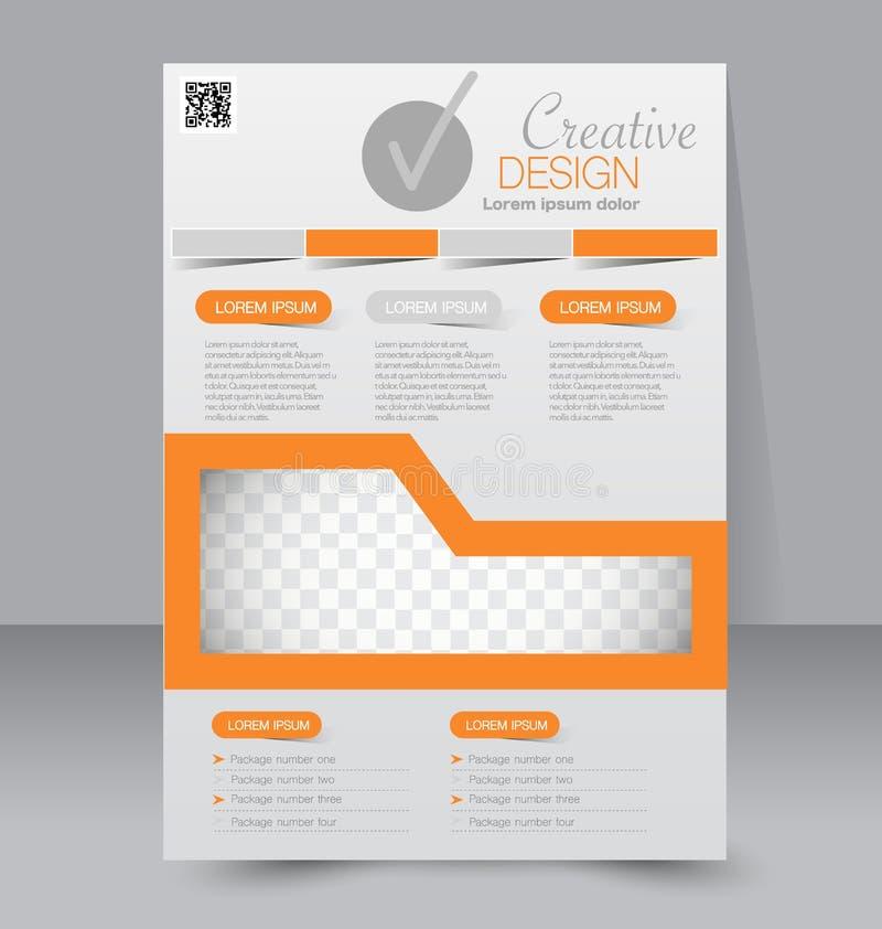 Plantilla del aviador Folleto del negocio Cartel Editable A4 ilustración del vector