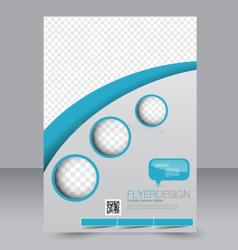 Plantilla del aviador Folleto del negocio Cartel Editable A4 para el diseño libre illustration