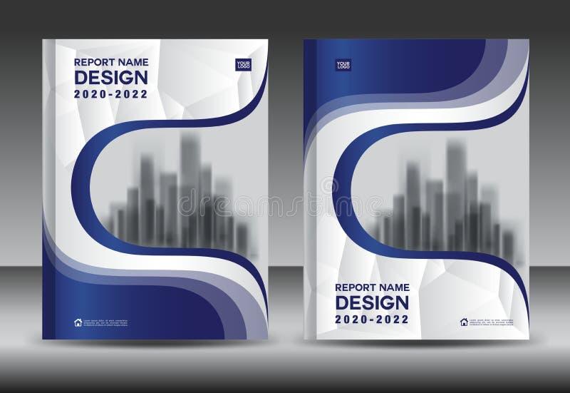 Plantilla Del Aviador Del Folleto Del Informe Anual, Diseño Azul De ...