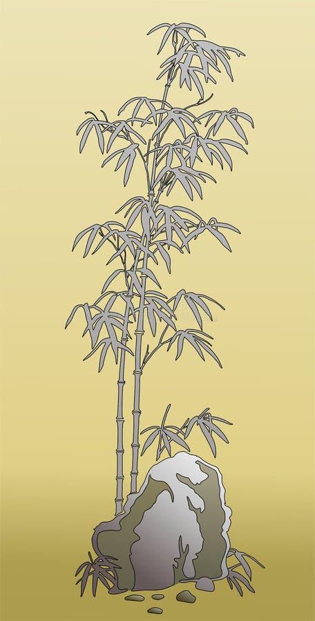 Plantilla del bambú de los gérmenes fotos de archivo