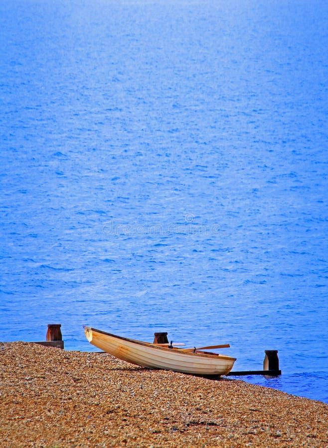Plantilla del barco de la playa fotografía de archivo