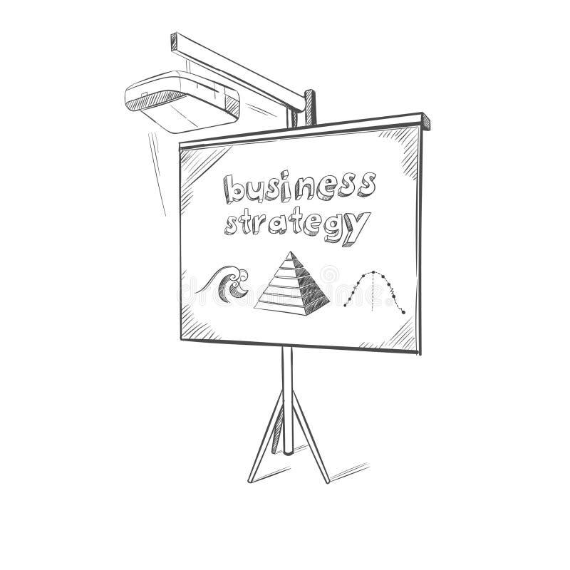Plantilla del bosquejo de la presentación del negocio libre illustration