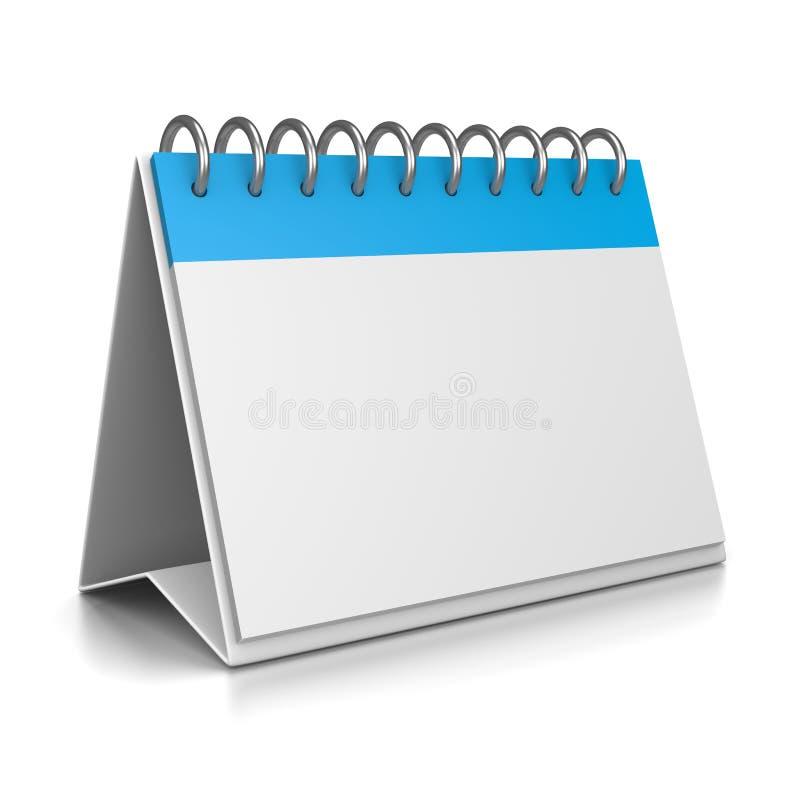 Plantilla del calendario de escritorio 3D ilustración del vector