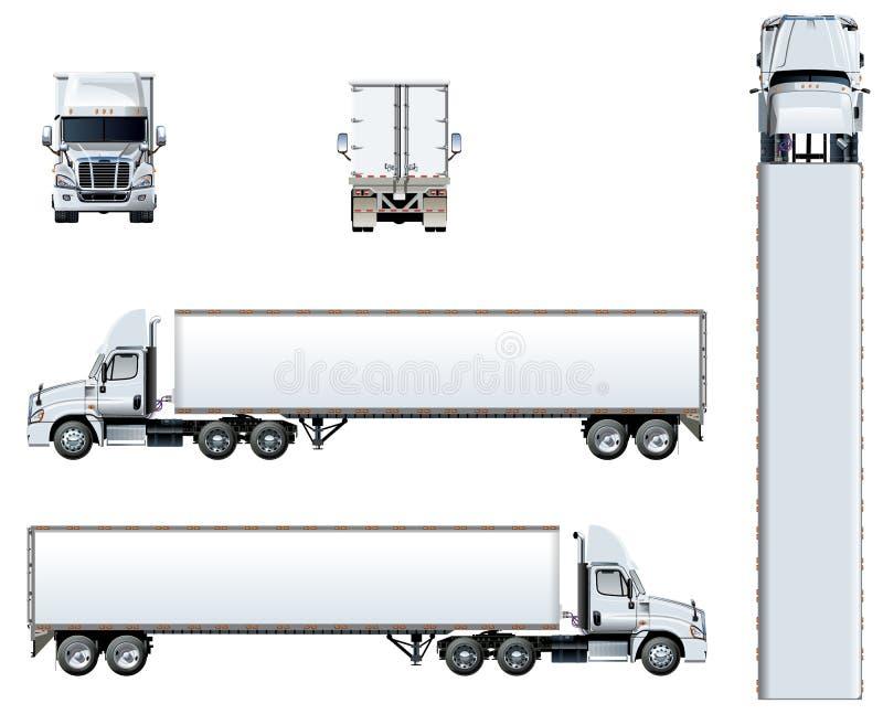 Plantilla del camión del vector aislada en blanco libre illustration