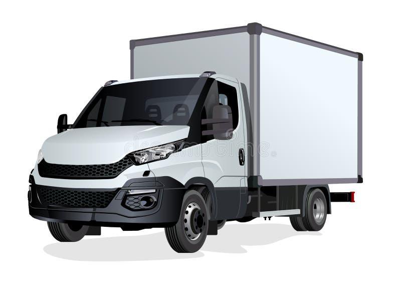 Plantilla del camión del vector aislada en blanco ilustración del vector