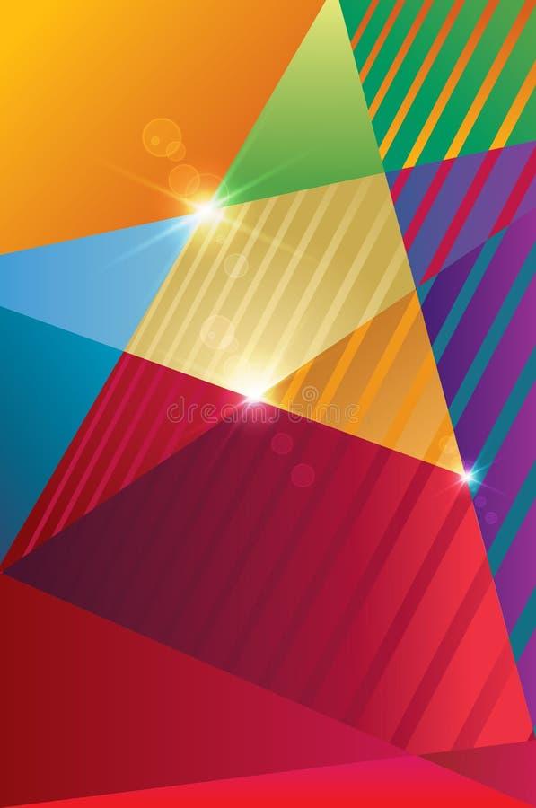 Plantilla del cartel con las estrellas coloridas stock de ilustración