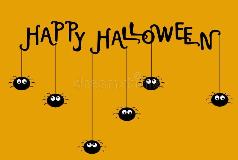 Plantilla del cartel de Halloween Ilustración del vector imagen de archivo
