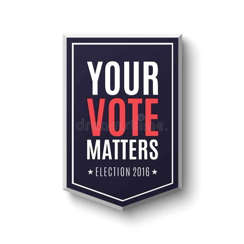 Plantilla 2016 del cartel de la elección libre illustration