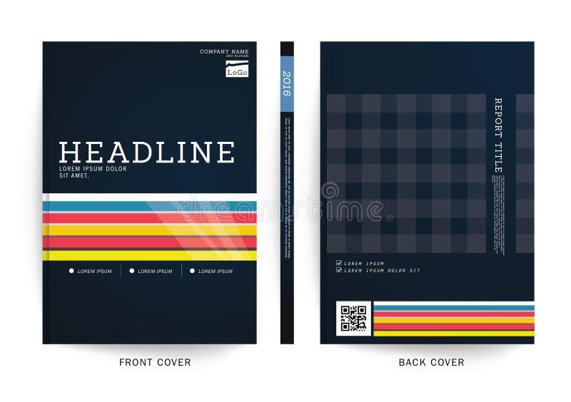 Plantilla del cartel de la revista comercial del informe del folleto stock de ilustración
