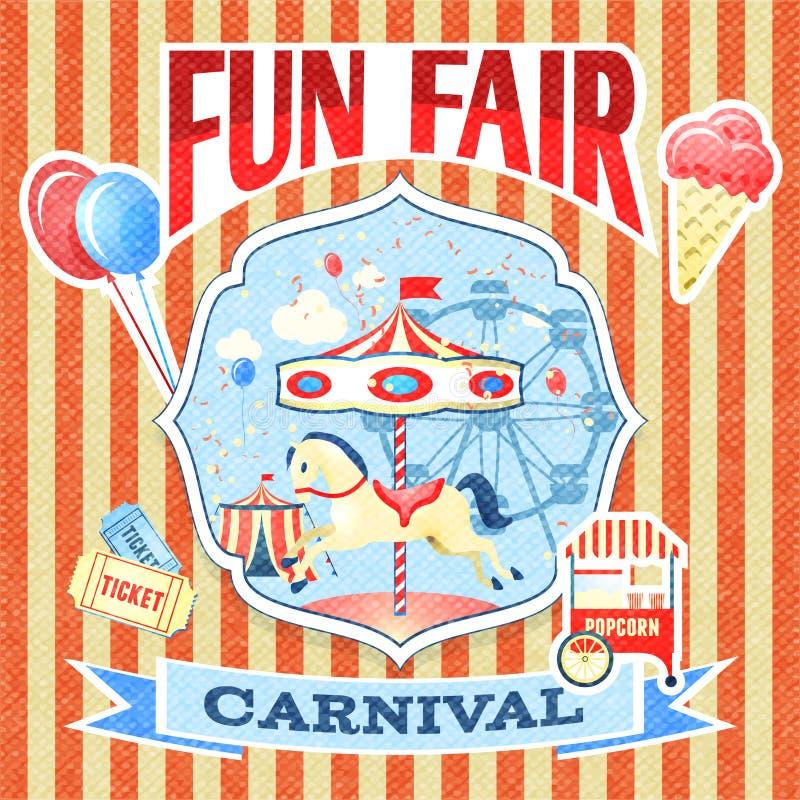 Plantilla del cartel del carnaval del vintage libre illustration