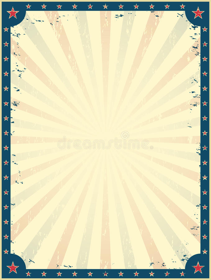 Plantilla del cartel del circo del vintage stock de ilustración
