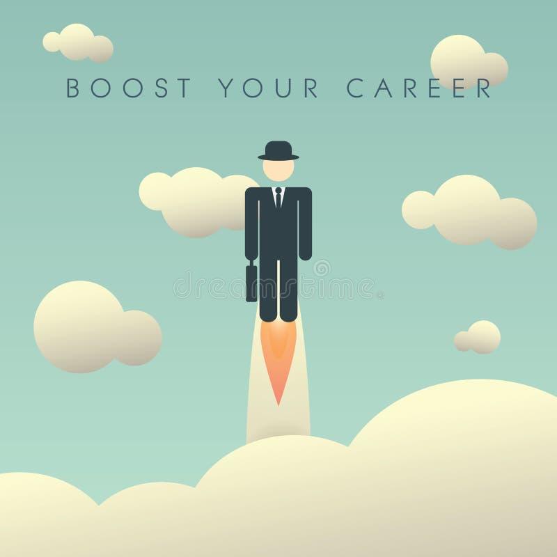 Plantilla del cartel del desarrollo de carrera con ilustración del vector