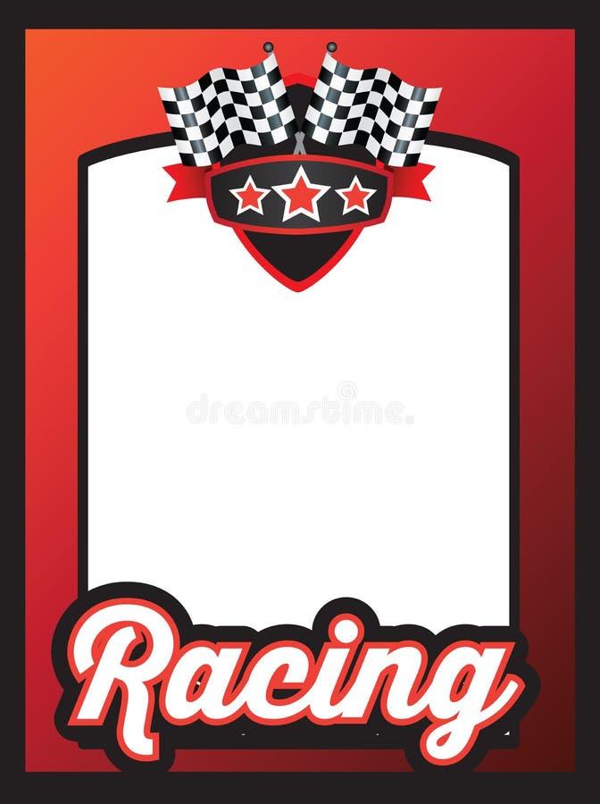 Plantilla del cartel para el equipo que compite con o karting del motorsport libre illustration