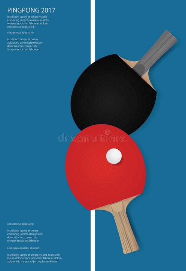 Plantilla Del Cartel Del Ping-pong Ilustración del Vector ...