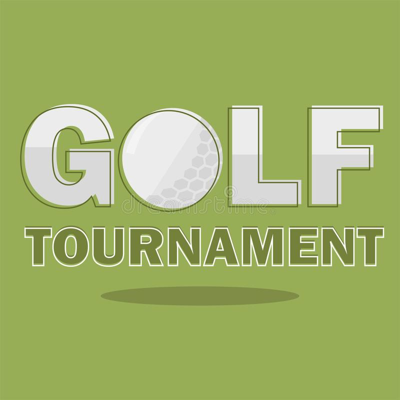 Plantilla del cartel del torneo del golf Diseño del aviador Ilustración del vector stock de ilustración