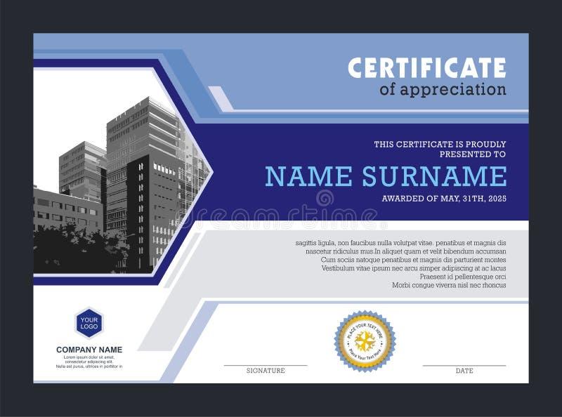 Plantilla del certificado, con diseño elegante y moderno libre illustration