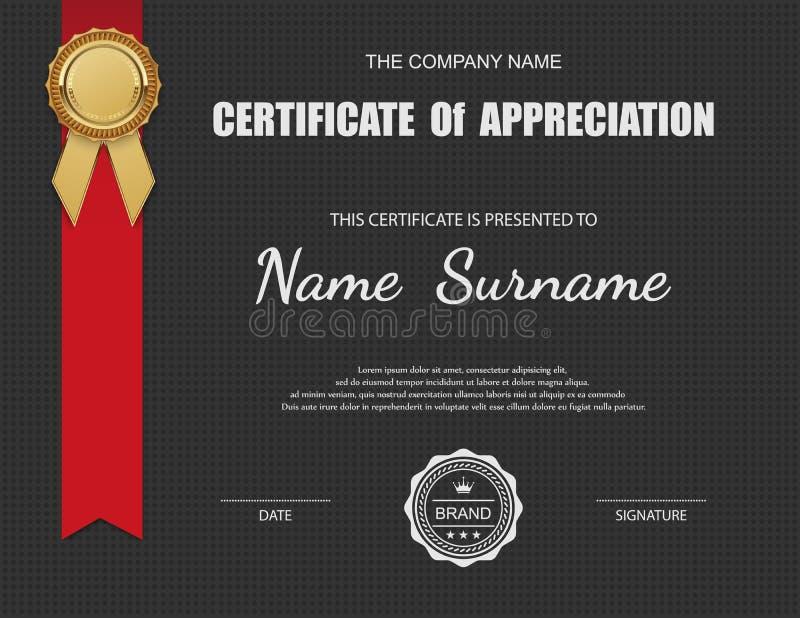Plantilla del certificado del vector libre illustration